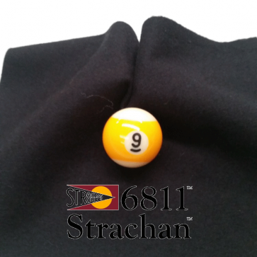 STRACHAN 6811 English Pool Snooker Billiards CLOTH 7ft x 3.6ft - BLACK