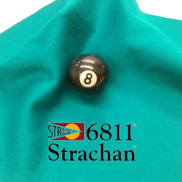 STRACHAN 6811 English Pool Snooker Billiards CLOTH 10ft x 5ft - TURQUOISE