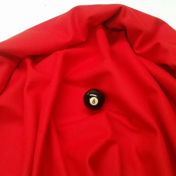 Eddie Charlton DIRECTIONAL Pool Snooker Billiards CLOTH 8ft x 4ft - RED