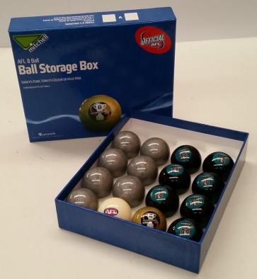 AFL Licensed POOL BALLS - 16 Pack - Port Adelaide POWER