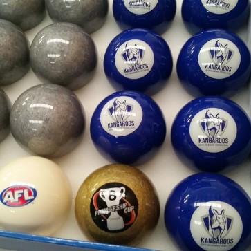 AFL Licensed POOL BALLS - 16 Pack - North Melbourne KANGAROOS