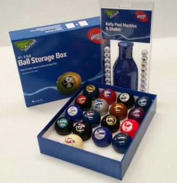 Official Licensed AFL Mixed Club POOL BALLS Pack