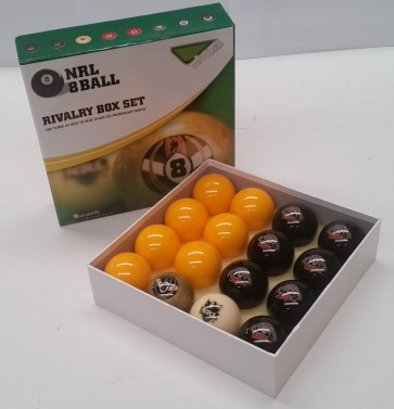 NRL Licensed POOL BALLS - 16 Pack - Wests TIGERS