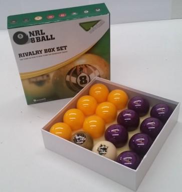 NRL Licensed POOL BALLS - 16 Pack - Melbourne STORM