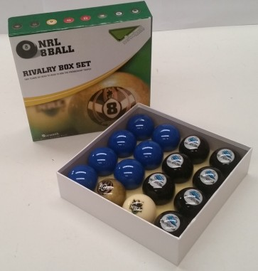 NRL Licensed POOL BALLS - 16 Pack - Cronulla Sutherland SHARKS