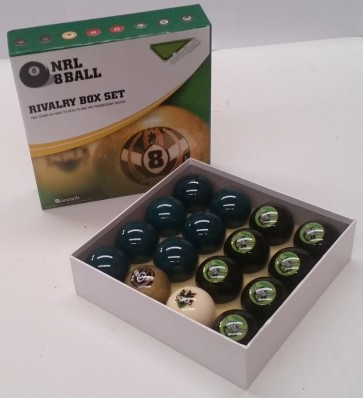 NRL Licensed POOL BALLS - 16 Pack - Canberra RAIDERS