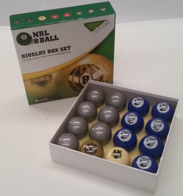 NRL Licensed POOL BALLS - 16 Pack - Canterbury Bankstown BULLDOGS