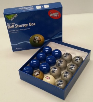 AFL Licensed POOL BALLS - 16 Pack - Geelong CATS