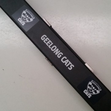 AFL Pool Snooker Billiards CUE CASE - Geelong CATS
