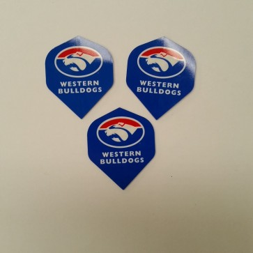 AFL Licensed DART FLIGHTS x 3 - Western BULLDOGS