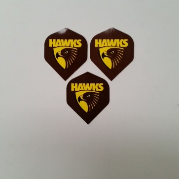 AFL Licensed DART FLIGHTS x 3- Hawthorn HAWKS