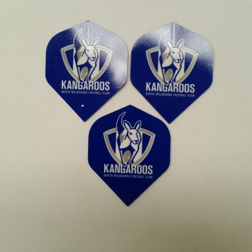 AFL Licensed DART FLIGHTS x 3 - North Melbourne KANGAROOS