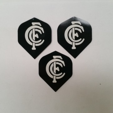 AFL Licensed DART FLIGHTS x 3 - Carlton BLUES