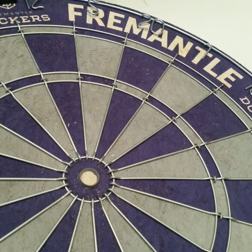 AFL Licensed DARTBOARD - Fremantle DOCKERS