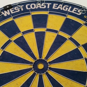 AFL Licensed DARTBOARD - West Coast EAGLES