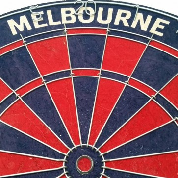 AFL Licensed DARTBOARD - Melbourne DEMONS