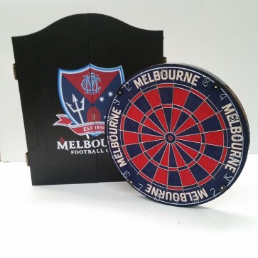 AFL Licensed DARTBOARD PACK - Melbourne DEMONS