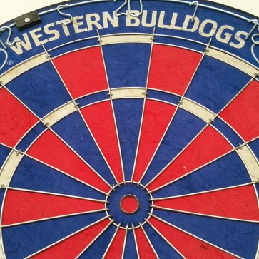 AFL Licensed DARTBOARD - Western BULLDOGS