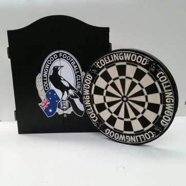AFL Licensed DARTBOARD PACK - Collingwood MAGPIES