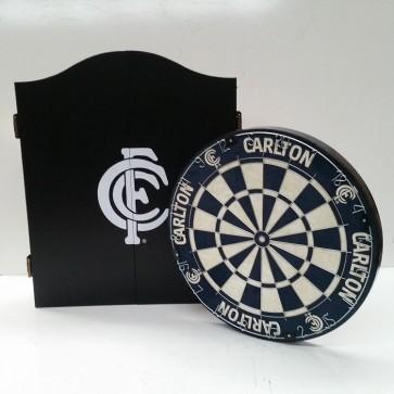 AFL Licensed DARTBOARD PACK - Carlton BLUES