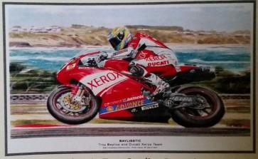 Australian Cars & Transport - Baylisstic Troy Bayliss Ducati - Tin Sign