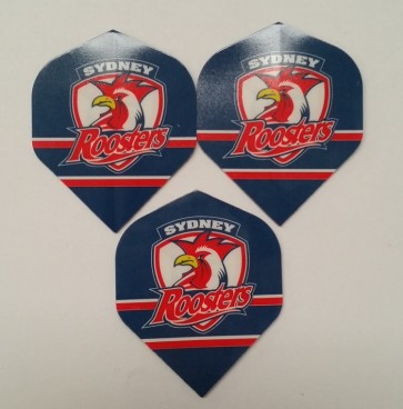 NRL Licensed DART FLIGHTS x 3 - Sydney ROOSTERS