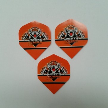 NRL Licensed DART FLIGHTS x 3 - Wests TIGERS