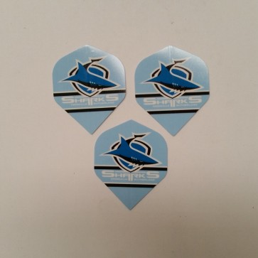 NRL Licensed DART FLIGHTS x 3 - Cronulla Sutherland SHARKS