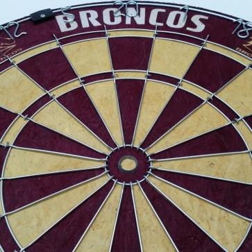 NRL Licensed DARTBOARD - Brisbane BRONCOS