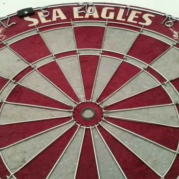 NRL Licensed DARTBOARD - Manly Warringah SEA EAGLES