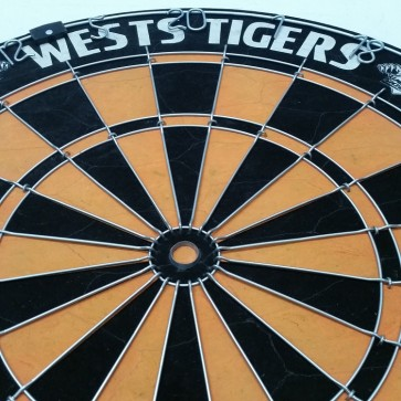 NRL Licensed DARTBOARD - Wests TIGERS