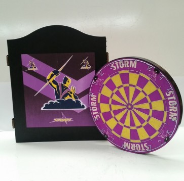 NRL Licensed DARTBOARD PACK - Melbourne STORM