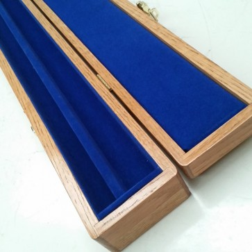 Lockable CUE CASE for 2 Piece Cue - OAK