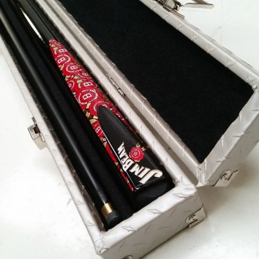 Official Licensed Jim Beam Graphite Pool CUE and CASE