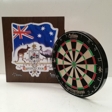 New Concept TX290 DARTBOARD & Sports Bar CABINET & Six DARTS