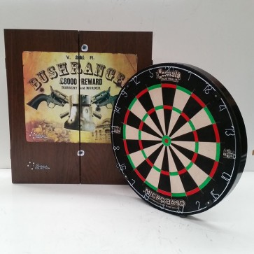 Micro Band DART BOARD & Ned Kelly Bushranger CABINET