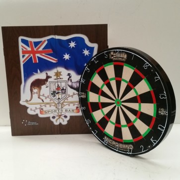 Micro Band DART BOARD & Sports Bar CABINET