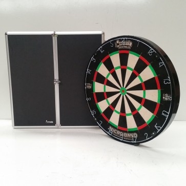 Micro Band DART BOARD & Aluminium Black Finish CABINET