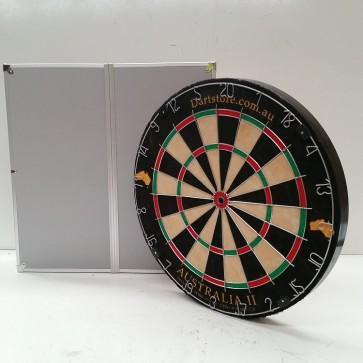 Australia II Micro/Triangle Wire Dartboard & Aluminium Cabinet + Free Darts