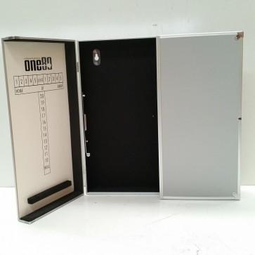 Aluminium Dartboard Cabinet - Silver