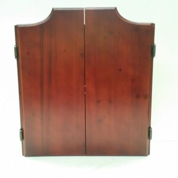 Brown Dartboard Cabinet