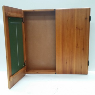 Club Size Dartboard CABINET - Solid Pine