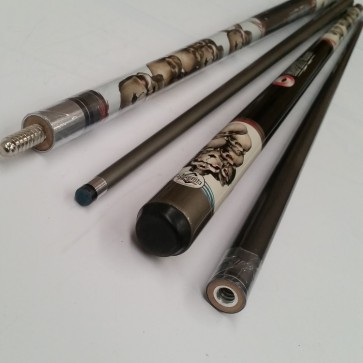 """Illusion"" 2 Pce Composite Pool Snooker Billiards 57"" CUE - Skull (Death)"