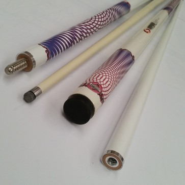 """Illusion"" 2 Pce Composite Pool Snooker Billiards 57"" CUE - Spin FX"