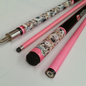 """Illusion"" 2 Pce GRAPHITE Pool Snooker Billiards 57"" CUE - Pink Puppy"