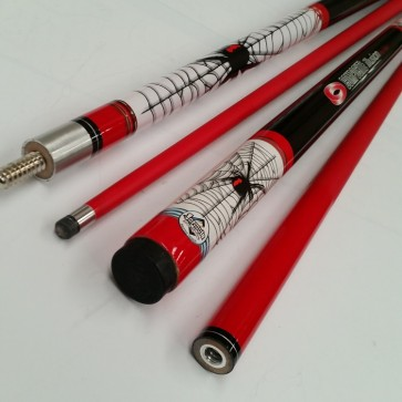 """Illusion"" 2 Pce Composite Pool Snooker Billiards 57"" CUE - Redback Spider"