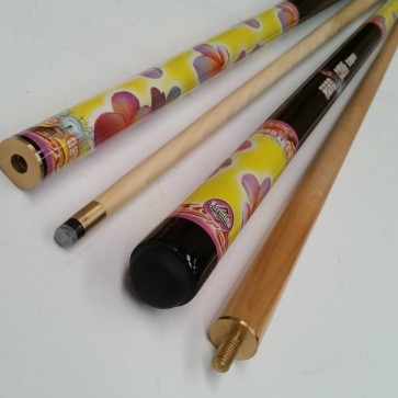 """Hard Core"" MAPLE 2 Pce Pool Snooker Billiards 57"" CUE - Summer Flower (Calypso)"