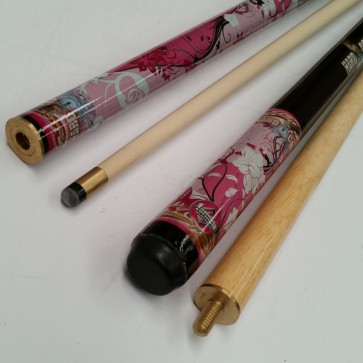 """Hard Core"" MAPLE 2 Pce Pool Snooker Billiards 57"" CUE - Girly Girl"