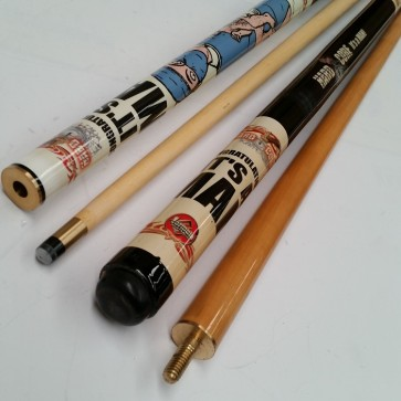 """Hard Core"" MAPLE 2 Pce Pool Snooker Billiards 57"" CUE - It's A Man Pool"