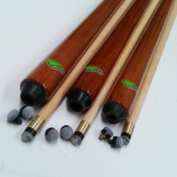 "Six (6) x Eddie Charlton 1 Pce Pool Snooker Billiards PUB CUES 57"" & 6 Screw TIPS"